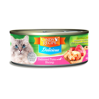 Cindy's Recipe Delicious Deboned Tuna With Shrimp 80g Cat Wet Food