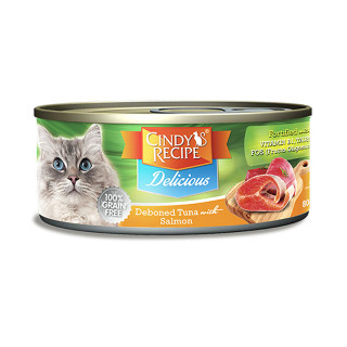 Cindy's Recipe Delicious Deboned Tuna With Salmon 80g Cat Wet Food