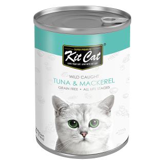 Kit Cat Super Premium Wild Caught Tuna with Mackerel 400g Cat Wet Food