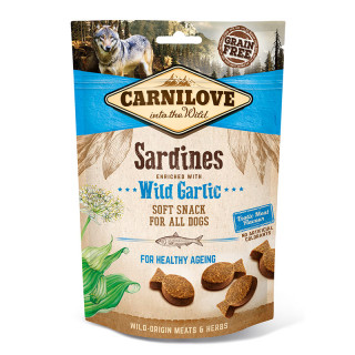 Carnilove Into the Wild Soft Snack Sardines with Wild Garlic 200g Dog Treats