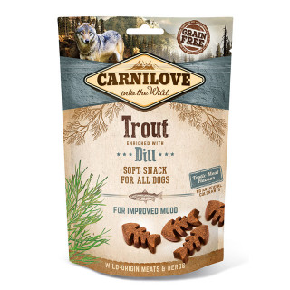 Carnilove Into the Wild Soft Snack Trout with Dill 200g Dog Treats