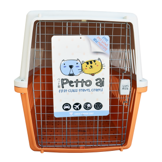 Petto Ai Airline Approved Pet Carrier Crate - ORANGE