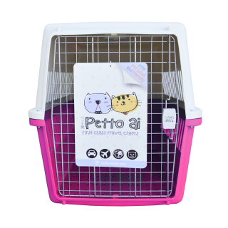 Petto Ai Airline Approved Pet Carrier Crate - PINK