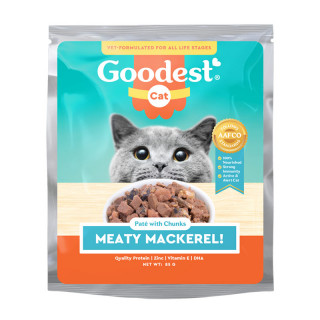 Goodest Cat Meaty Mackerel Pate with Chunks 85g Cat Wet Food
