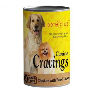 Pet Plus Canine Cravings Chicken with Beef Liver 400g Dog Wet Food