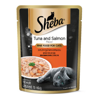 Sheba Tuna & Salmon Pouch 70g Cat Wet Food