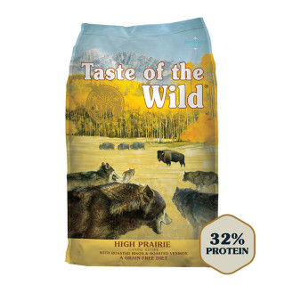 Taste of the Wild Canine High Prairie with Roasted Bison & Roasted Venison Grain-Free Dog Dry Food