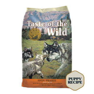 Taste of the Wild High Prairie with Roasted Bison and Roasted Venison Grain-Free Puppy Dry Food