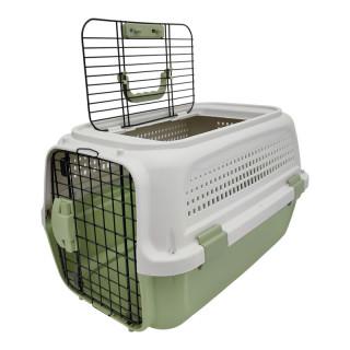 Simple Double Door Green Pet Carrier