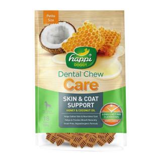 Happi Doggy Dental Chew Care Honey & Coconut Petite Size 150g Dog Treats