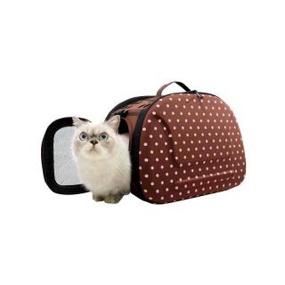 Ibiyaya Brown Collapsible Shoulder Pet Carrier