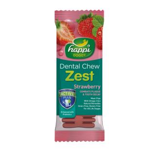 Happi Doggy Dental Chew Zest Strawberry 25g Dog Treats