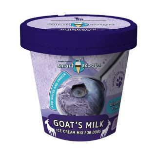 Smart Scoops Ice Cream Mix Goat's Milk Blueberry for Dogs