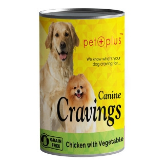 Pet Plus Canine Cravings Chicken with Vegetable 400g Dog Wet Food