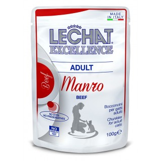 LeChat Excellence Chunkies with Beef Adult Cat Wet Food 100g