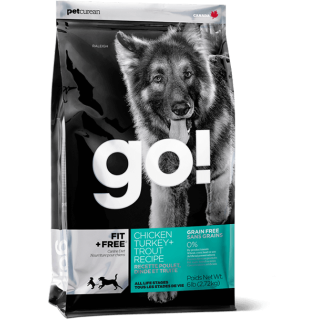 Go! Fit + Free Chicken, Turkey & Trout Grain Free Dog Dry Food
