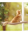 Oster Sunny Seat Window Mounted Cat Bed with Reversible Comfy Pad