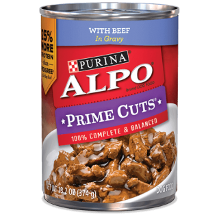 ALPO Prime Cuts with Beef in Gravy 374g Dog Wet Food