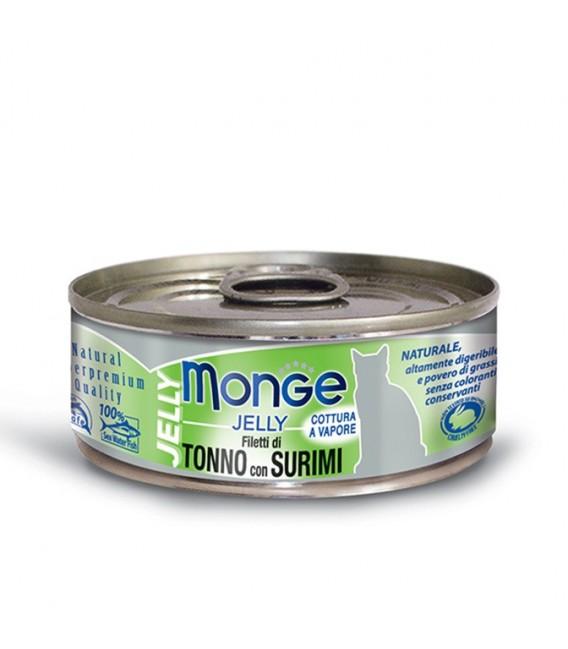 Monge Jelly Yellowfin Tuna with Surimi 80g Cat Wet Food