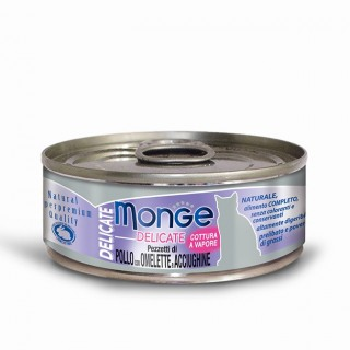 Monge Delicate Chicken with Omelette & Anchovies 80g Cat Wet Food