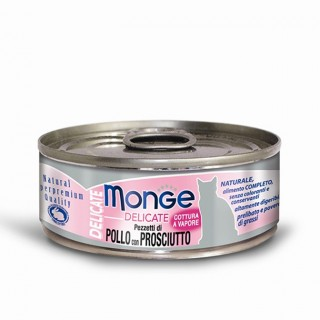Monge Delicate Chicken with Ham 80g Cat Wet Food