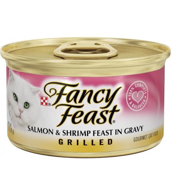 Purina Fancy Feast Grilled Salmon & Shrimp 85g Cat Wet Food