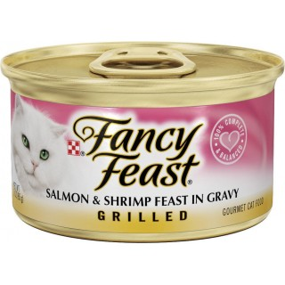 Fancy Feast Grilled Salmon & Shrimp Feast in Gravy 85g Cat Wet Food