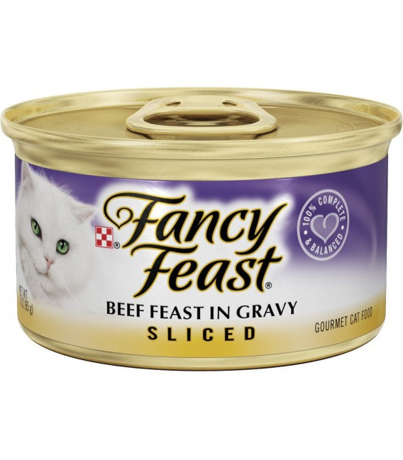 Purina Fancy Feast Sliced Beef Feast 85G Cat Wet Food