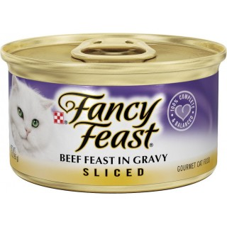 Fancy Feast Sliced Beef Feast in Gravy 85g Cat Wet Food