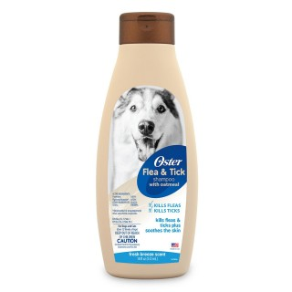 Oster Oatmeal Natural Flea & Tick Fresh Breeze 532ml Dog Shampoo