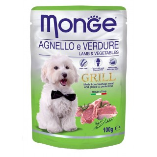 Monge Grill Chunkies with Lamb & Vegetables 100g Dog Wet Food