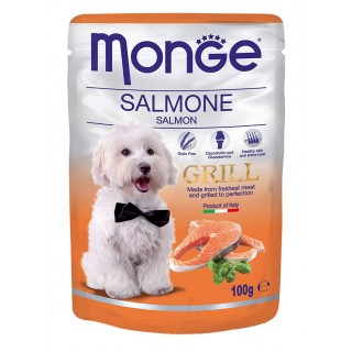 Monge Grill Chunkies with Salmon 100g Dog Wet Food
