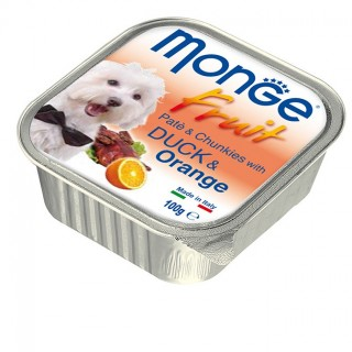 Monge Fruit Pate & Chunkies with Duck & Orange 100g Dog Wet Food
