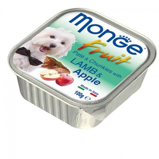 Monge Fruit Pate & Chunkies with Lamb & Apple 100g Dog Wet Food