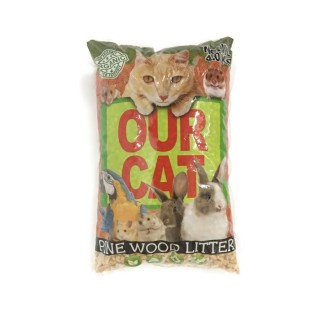 Our Cat Pine Wood 4kg Cat Litter