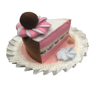 Babymoon Cake Slice Hat Chocolate Blush Pet Accessory