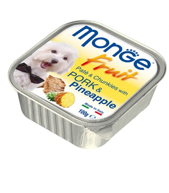 Monge Fruit Pate & Chunkies with Pork & Pineapple 100g Dog Wet Food