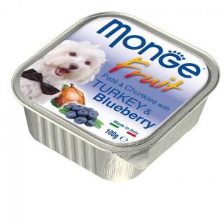 Monge Fruit Pate & Chunkies with Turkey & Blueberry 100g Dog Wet Food