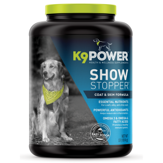 K9 Power Show Stopper Coat & Skin Formula 4lb (1814g) Dog Supplement