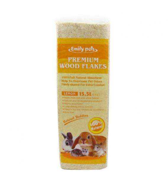 Emily Pets Premium Wood Flakes Small Pets 1kg Natural Bedding
