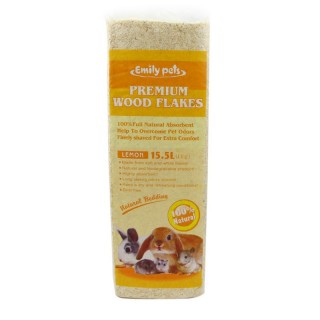 Emily Pets Premium Wood Flakes Small Pets Natural Bedding (1kg)