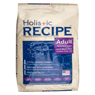 Holistic Recipe Lamb & Rice Adult 15kg Dog Dry Food