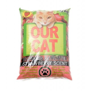 Our Cat Litter Strawberry Scent 12kg Cat Litter
