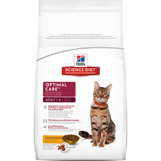 Hill's Science Diet Adult Optimal Care Original 1.5kg Cat Dry Food