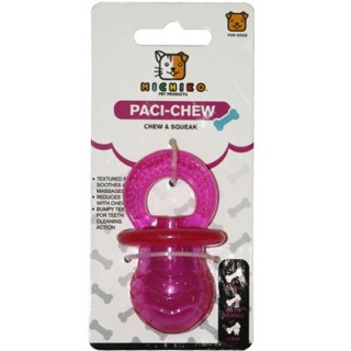 Michiko Small Paci Chew & Squeak Dog Toy
