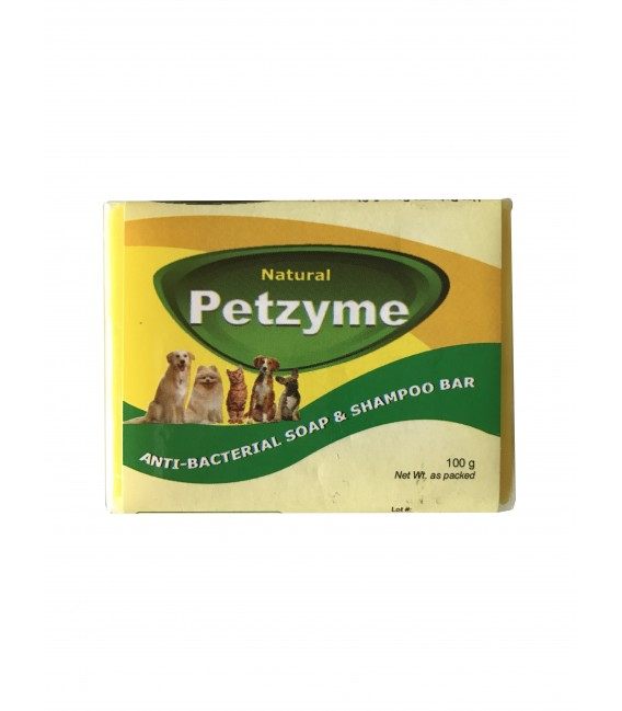 Petzyme Anti-Bacterial 100g Pet Soap & Shampoo Bar
