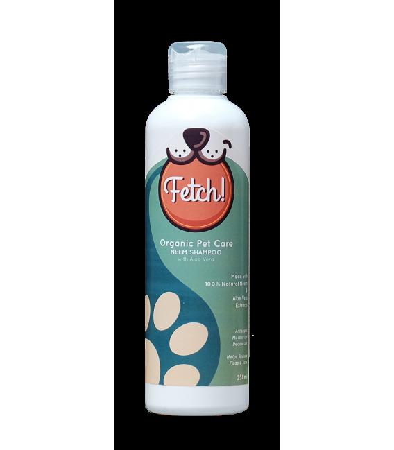 Fetch Organic Pet Care Neem Shampoo with Aloe Vera for Dogs & Cats