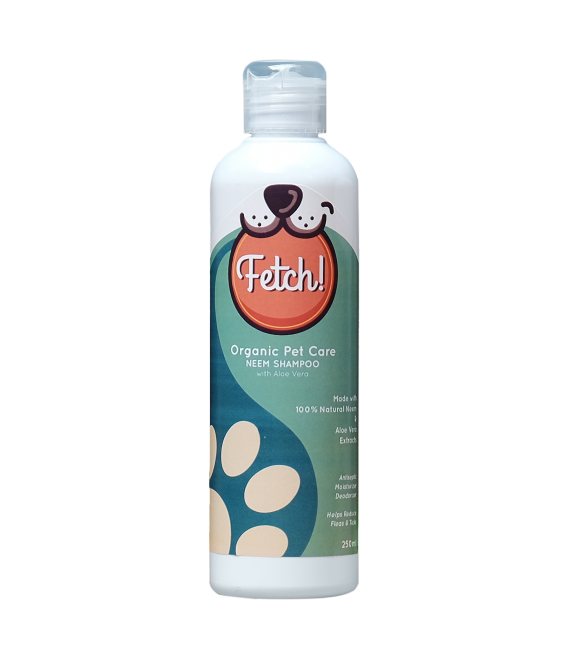 Fetch Organic Pet Care Neem Shampoo with Aloe Vera for Dogs & Cats