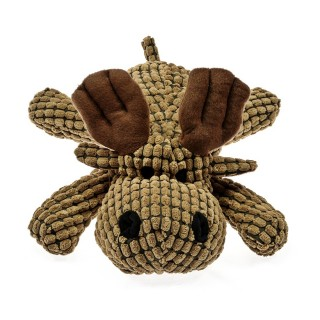 Patchwork Pet Waffle Wags Moose 14'' Dog Toy