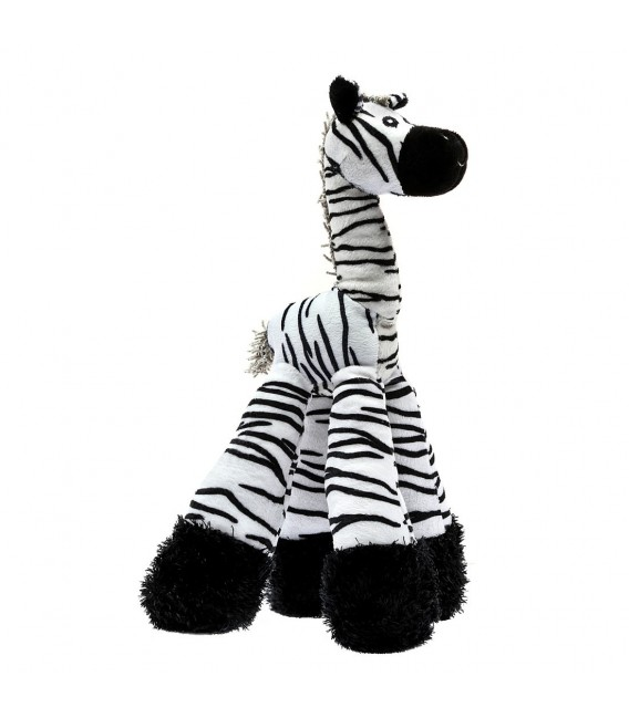Patchwork Pet Long Legs Zebra 12 inch Pet Toy